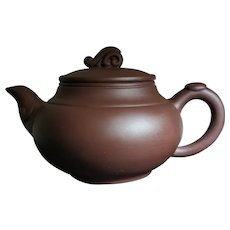 Purple Clay Teapot by Fan Yaqin during 1980s-1990s
