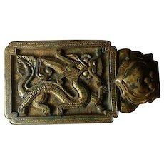 18-19th c Qing Dynasty Belt Buckle Dragon Bracelet