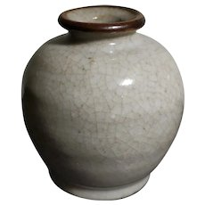 Elegant Antique Porcelain Ge Bottle (17th to 19th c, Qing Dynasty)