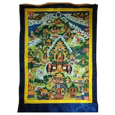 Hand-painted Old Tibetan Thangka Painting