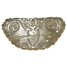 Antique Chinese Xiuyan Jade Nephrite Butterfly Pendant