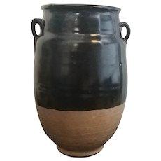 14-15th-c Black Porcelain Bottle of Yuan Dynasty China