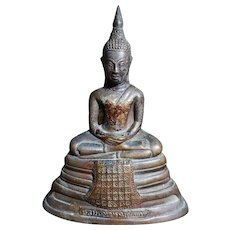 Antique Thai Buddha Statue Bronze 泰国古董铜佛像