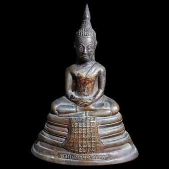 Antique Thai Buddha Statue Bronze 泰国古董铜佛像