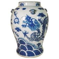 Majestic Big Jar Qing-Dynasty Chinese Antique Porcelain