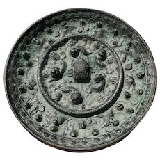 10-13 c Chinese Bronze Mirror in Tang Style, Made in Song Dynasty 宋代青铜镜,仿唐代