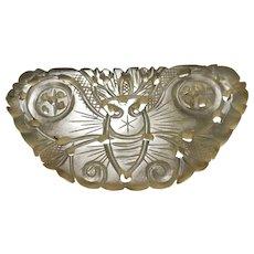 Pretty Antique Nephrite Xiuyan Jade Butterfly Pendant (18th-19th c, Qing Dynasty) 清代岫岩玉蝴蝶佩