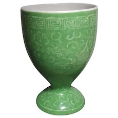 Early 20th c Green Glaze Chinese Cup 晚清民国绿釉杯