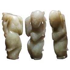 18-19th c Jade Child Pendant Qing Dynasty