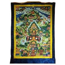 Old Tibetan Thangka Original Painting 西藏手绘老唐卡