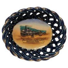 Cherryvale Vitrified Brick Co., Cherryvale, Kansas Souvenir Basket