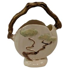 Roseville Pottery, Ming Tree, Temple White Basket c. 1949