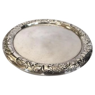 John Aldwinckle & James Slater Sterling Silver Footed Salver 1883