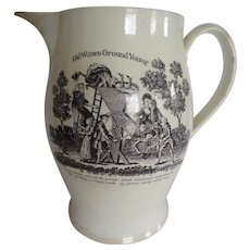 """Wonderful Mill"" 18th Century Liverpool PItcher"