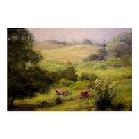 A pastoral landscape by (Robert Bruce) Crane