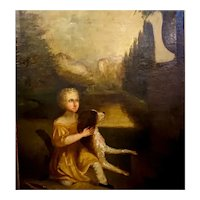A child and her dog by Alvan Fisher