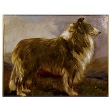 Portrait of a Collie by William Johnston