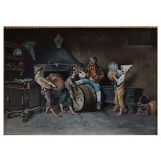 Italian genre painting by Carlo Ciappi