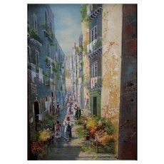 Italian Street Scene by Yves Gianni