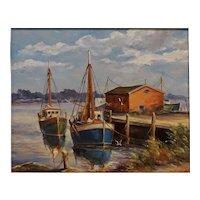 Harbor Scene by Roger Deering