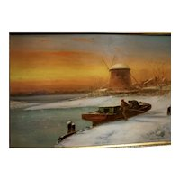 Coastal Scene at Sunset by Harrington Fitzgerald
