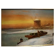 Coastal Scene at Sunset by Harrington Fitzgerald