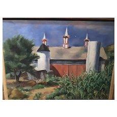 Barn Scene by Grace Huntley Pugh
