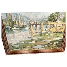 Harbor Scene by Roger Barron