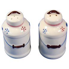Shawnee Pottery Milk Can Salt and Pepper Shakers