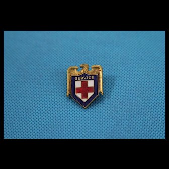 WWII US Red Cross Service Pin Award