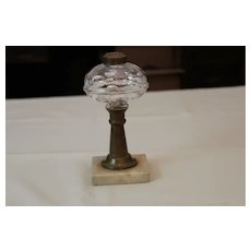 Whale oil lamp circ mid 1800's in very nice condition