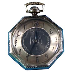 14k White Gold Waltham Octagon Cased pocket watch Circ 1920