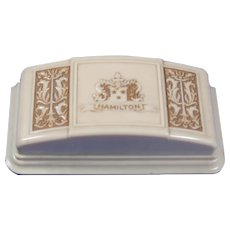 Ladies Hamilton Ivory Colored Bakalite Watch Box