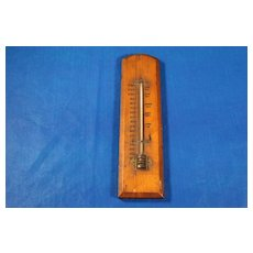 Vintage Wood Thermometer In Working condition