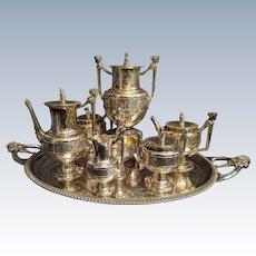 Incredible rare coin silver tea service