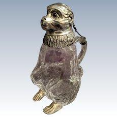 Figural silver plate claret jug
