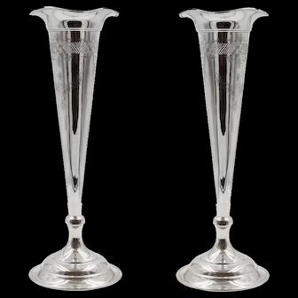 Pair of Trumpet Vases