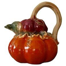 Ceramic Pumpkin Gourd Pitcher