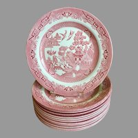 Churchill Willow Rosa Pink Dinner Plate