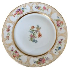 William Guerin Limoges France charger, service, dinner plate