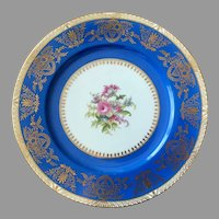 Gorgeous Noritake Cobalt blue gold 11'' charger, dinner, service plate, made in Japan