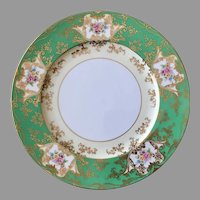 Rare gorgeous Noritake emerald green gold 11'' charger, dinner, service plate, made in Japan