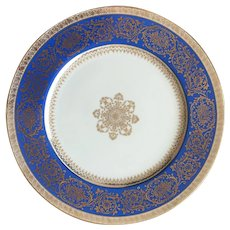 Rare gorgeous Noritake Cobalt blue gold 11'' charger, dinner, service plate, made in Japan