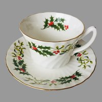 Royal Sutherland Christmas tea cup and saucer