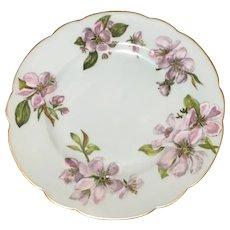 Vintage H & Co cherry blossoms floral salad dessert scallop edge plate 8.5''