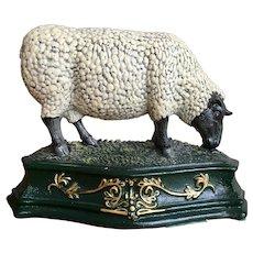 Vintage cast iron Sheep door stop, bookend