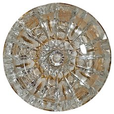 American brilliant cut crystal Ashtray