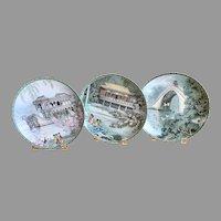 3 Imperial Jingdezhen Porcelain wall plates