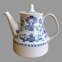 Gorgeous Turi design Figgjo Flint Lotte handpainted tea pot made in Norway