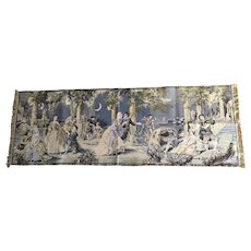 Belgian Vintage tapestry runner, bureau scarf, wall hanging, made in Belgium